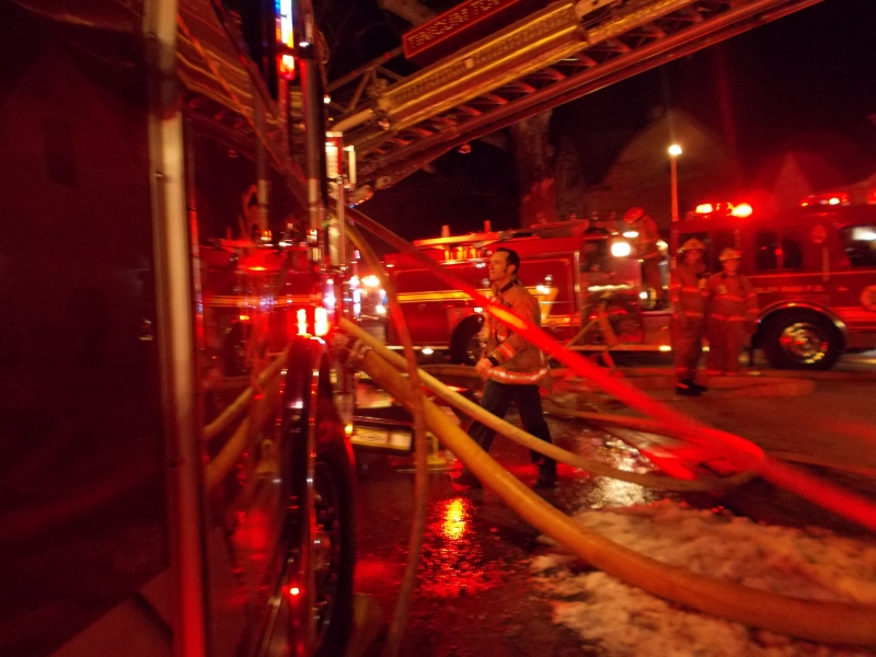 Working Building Fire Ridley Park
